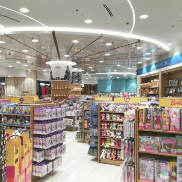 ROVASI lights the Borders Bookstore at the Dubai Mall in the United Arab Emirates