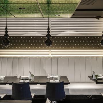 ROVASI lights up the CAU Restaurant in Blackheath, UK.