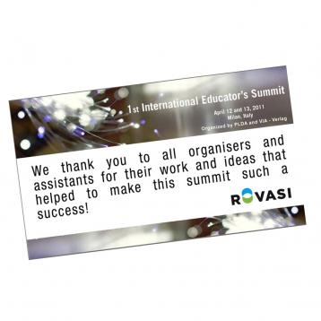 ROVASI - Sponsor of the First International Educators Summit at Euroluce