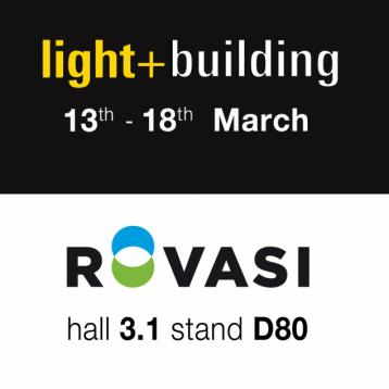 Rovasi à Light+Building 2016 | Hall 3.1 Stand D80