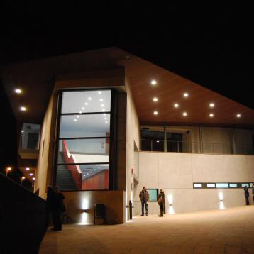 ROVASI illuminates outside of La Torreta cultural center